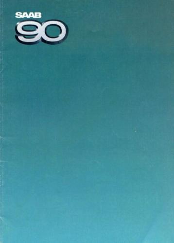 Saab 90 MY85 Brochure NL 01