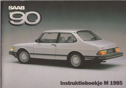 Saab 90 Instructieboekje MY85 NL 01