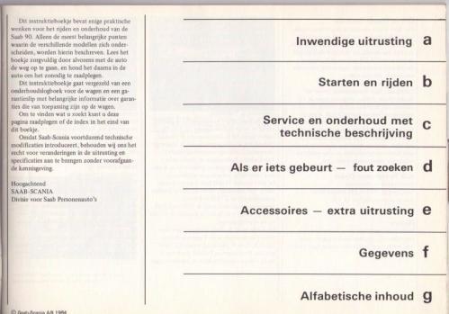 Saab 90 Instructieboekje MY85 NL 02