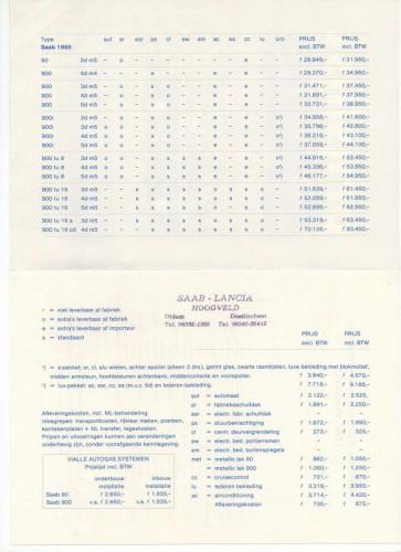 Nieuwprijzen MY85 - September 1984 02