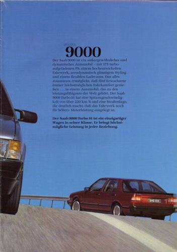 MY86 - Duitstalige Folder Saab 90-900-9000 03