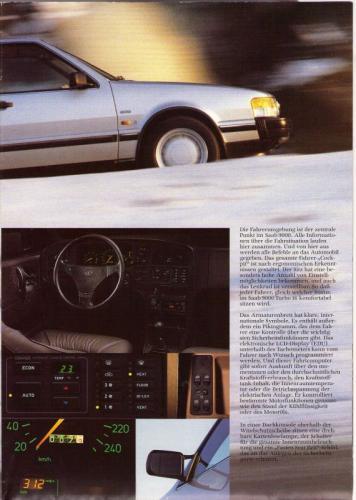 MY86 - Duitstalige Folder Saab 90-900-9000 05