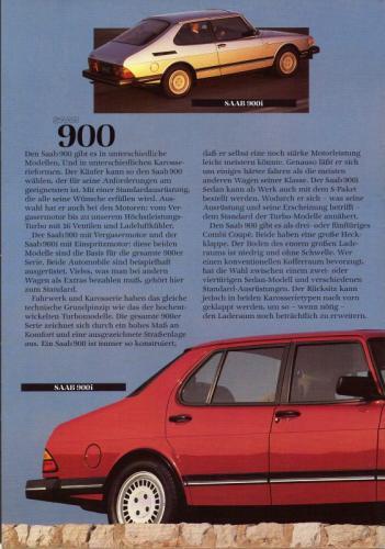 MY86 - Duitstalige Folder Saab 90-900-9000 08