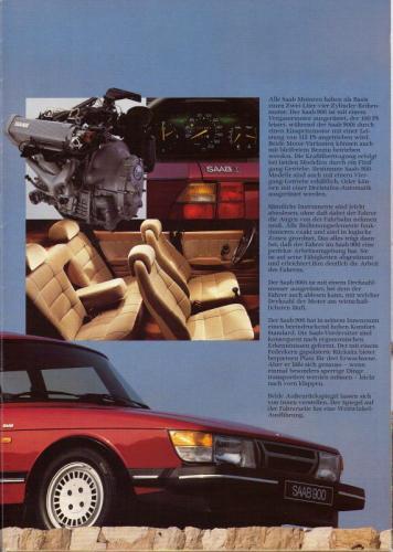 MY86 - Duitstalige Folder Saab 90-900-9000 09