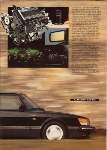 MY86 - Duitstalige Folder Saab 90-900-9000 11