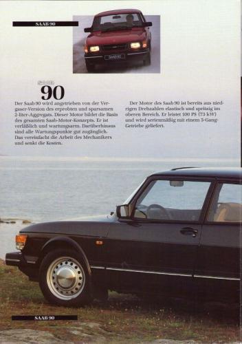 MY86 - Duitstalige Folder Saab 90-900-9000 12