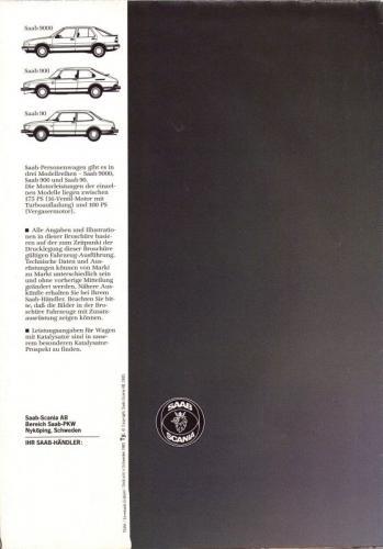 MY86 - Duitstalige Folder Saab 90-900-9000 16