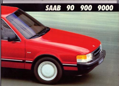 MY86 - Folder Finland Saab 90 900 9000