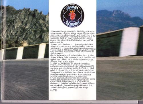 MY86 - Folder Finland Saab 90 900 9000 03