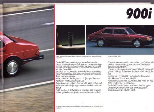 MY86 - Folder Finland Saab 90 900 9000 11