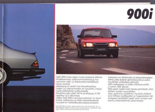 MY86 - Folder Finland Saab 90 900 9000 13