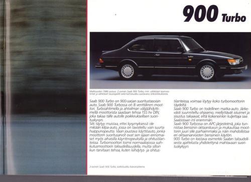 MY86 - Folder Finland Saab 90 900 9000 15