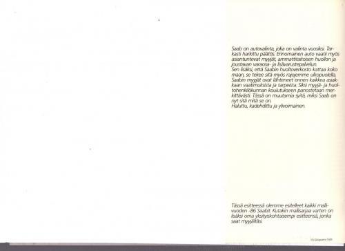 MY86 - Folder Finland Saab 90 900 9000 20