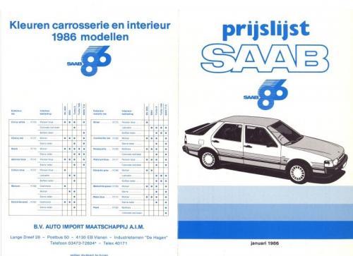 MY86 - Prijslijst januari 1986
