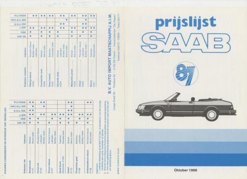 MY87 - prijslijst oktober 1986
