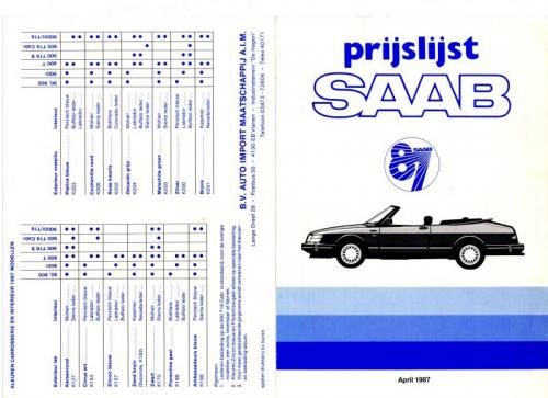 MY87 - Prijslijst april 1987