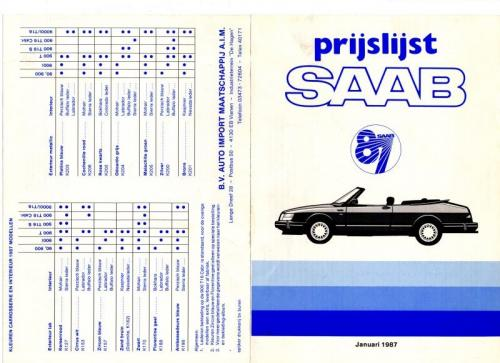 MY87 - Prijslijst januari 1987