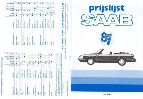 MY87 - Prijslijst juli 1987