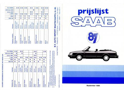 MY87 - Prijslijst september 1986