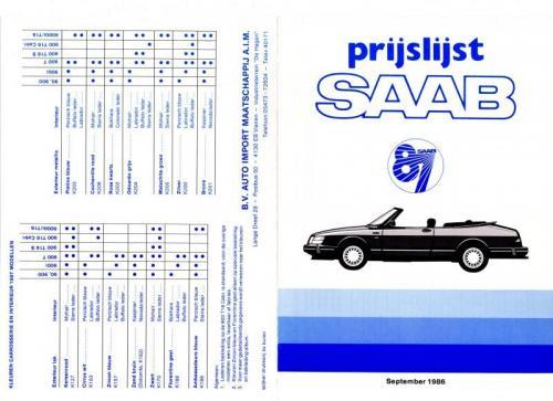 MY87 - Prijslijst september 1986