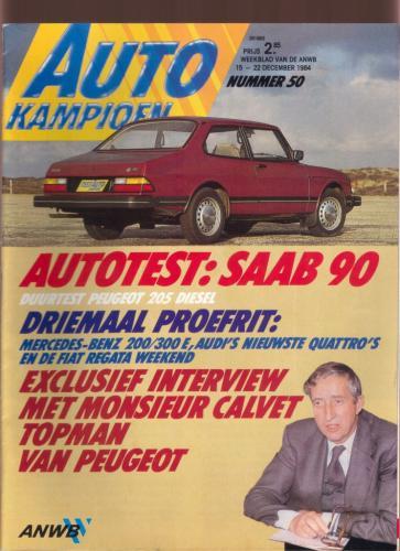 Pers over de Saab 90 - Autokampioen 1984