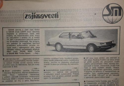 Pers over de Saab 90 - Svet Motoru 1991 (Tsjechisch)