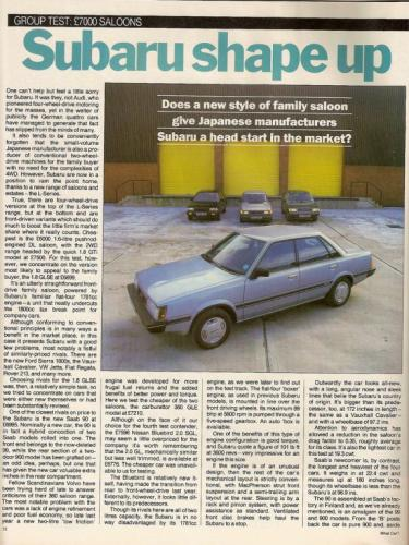 Pers over de Saab 90 - What Car Saloontest 1985