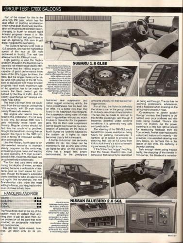What Car - Saloontest 1985 03