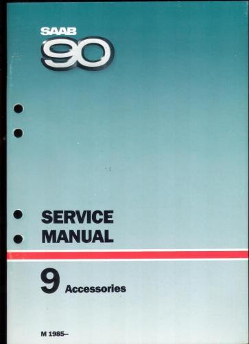 Werkplaatshandboek - 9 - Service Manual - Accesoires