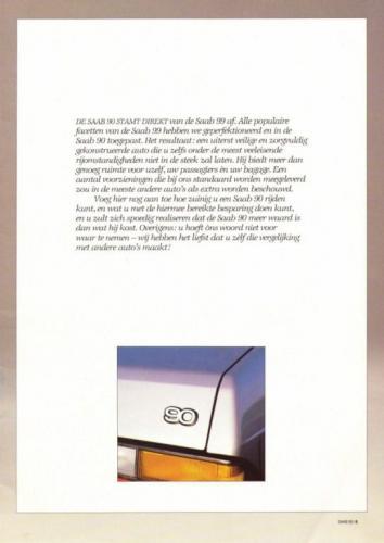 Saab 90 MY85 Brochure NL 05