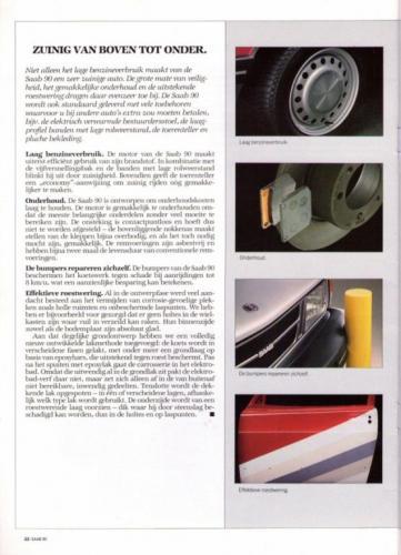 Saab 90 MY85 Brochure NL 22 (1)