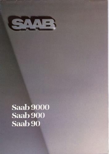MY86 - Duitstalige Folder Saab 90-900-9000 01