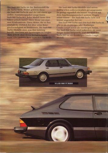 MY86 - Duitstalige Folder Saab 90-900-9000 10