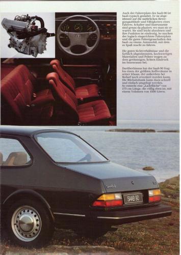 MY86 - Duitstalige Folder Saab 90-900-9000 13