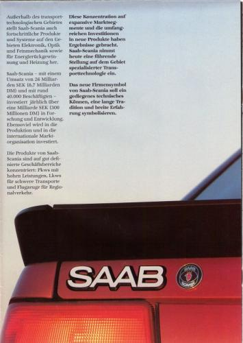 MY86 - Duitstalige Folder Saab 90-900-9000 15