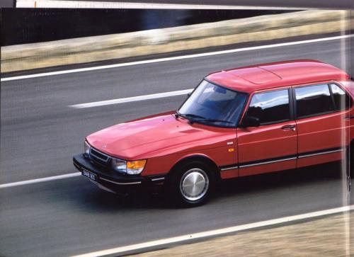 MY86 - Folder Finland Saab 90 900 9000 10