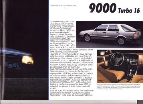 MY86 - Folder Finland Saab 90 900 9000 17