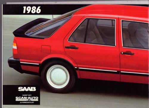 MY86 - Folder Finland Saab 90 900 9000 21