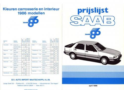 MY86 - Prijslijst april 1986