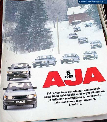 Pers over de Saab 90 - AJA nr 6 (1985)