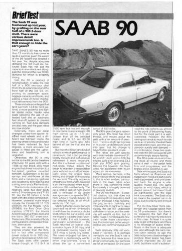 Pers over de Saab 90 - Motor (juni 85)