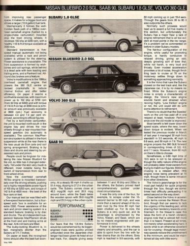 What Car - Saloontest 1985 02