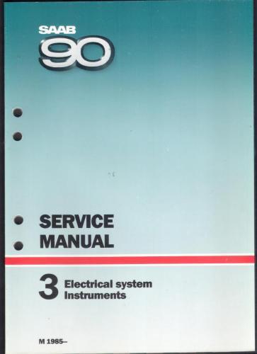 Werkplaatshandboek - 3 - Electrical System Instruments